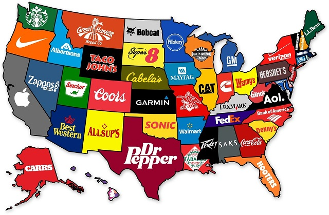 map us brands