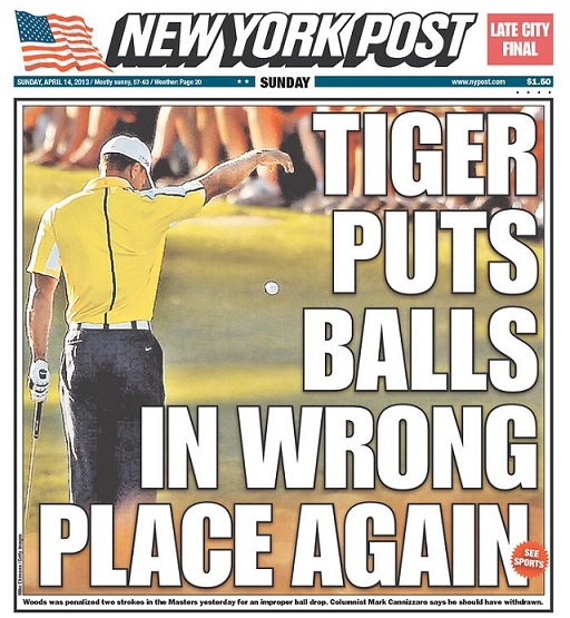 Tiger-Woods-New-York-Post-headline