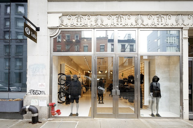 Lululemon's Lab store on Bond Street in New York City.